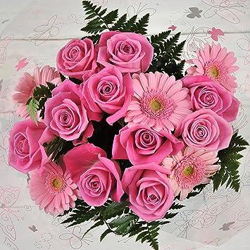 Fresh flowers delivered pink rose gerbera fresh flower bouquet fresh flowers delivered pink rose gerbera fresh flower bouquet with handwritten card free mightylinksfo
