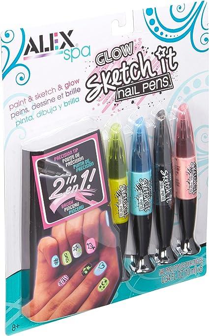 ALEX Spa Sketch It Nail Pens Salon Makeup Spa Game Kids Child New