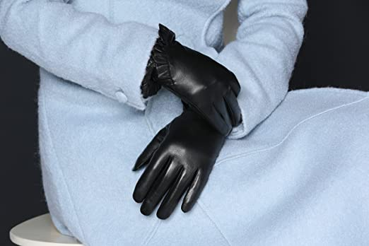 8edb26071e0a6 MoDA Women's Ms. Montreal Chic Ruffle Solid Leather Driving Gloves:  Amazon.ca: Luggage & Bags