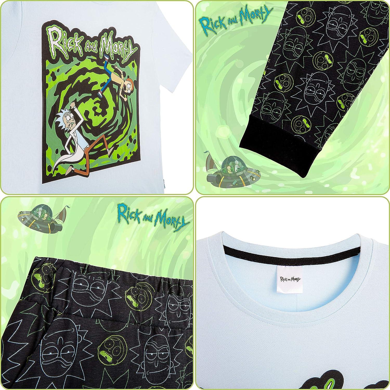 Pantaloni Tuta Uomo T Shirt Cartone Animato Divertente Pickle Pigiama Uomo Rick E Morty in Caldo Cotone RICK AND MORTY Pigiama Uomo Invernale Regalo Uomo Originale