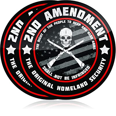 Narrow Minded Premium 2nd Amendment Stickers (2 Pack) 4 Inch Diameter Great for Your Truck or Toolbox: Arts, Crafts & Sewing