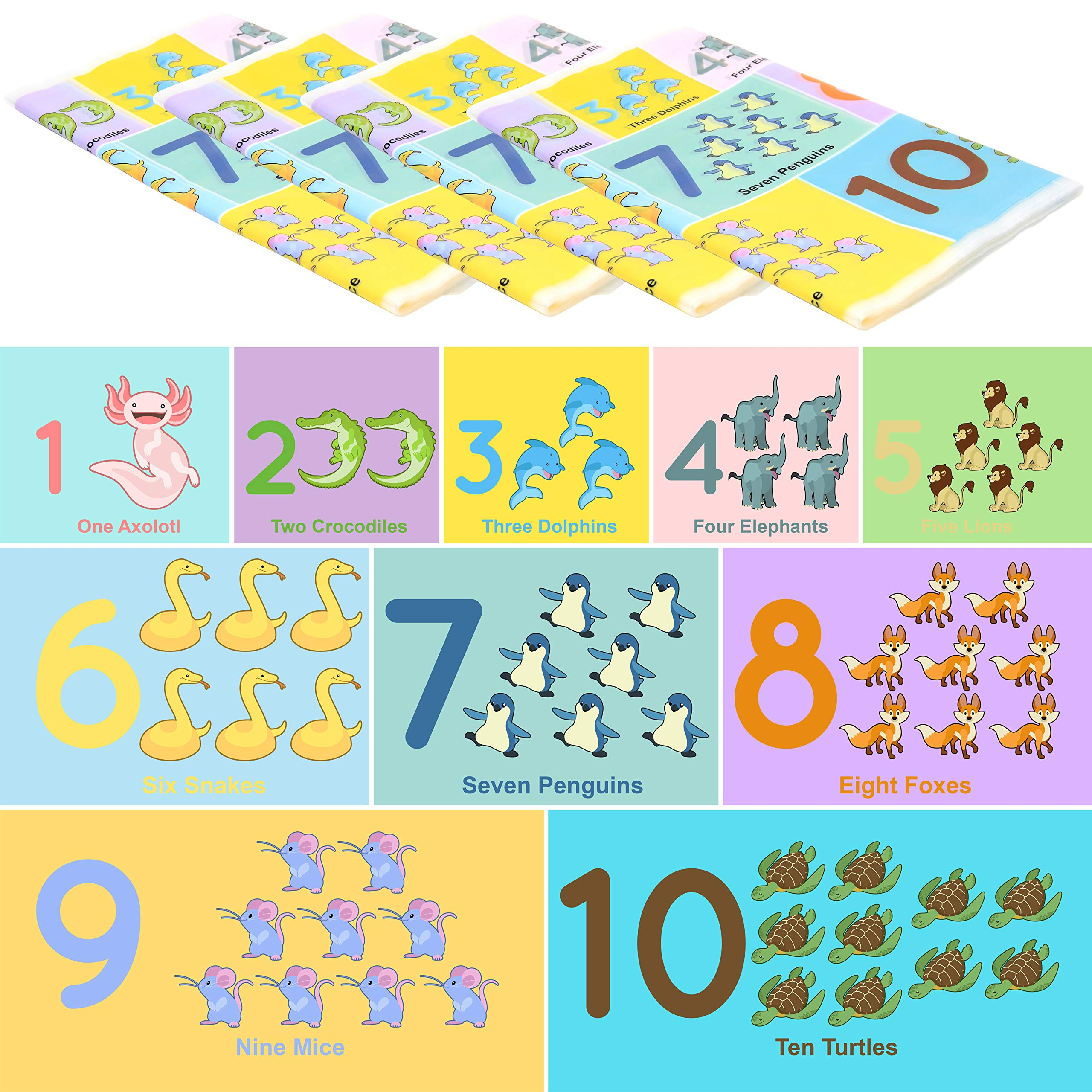 Youngever 80 Disposable Placemats Table Topper, Extra Sticky (4 Sides) Adhesive Peel and Stick Strip Disposable Mats for Kids Toddlers Baby Children, 18 Inch x 12 Inch Kids Safe, FDA Approved (Number) by Youngever