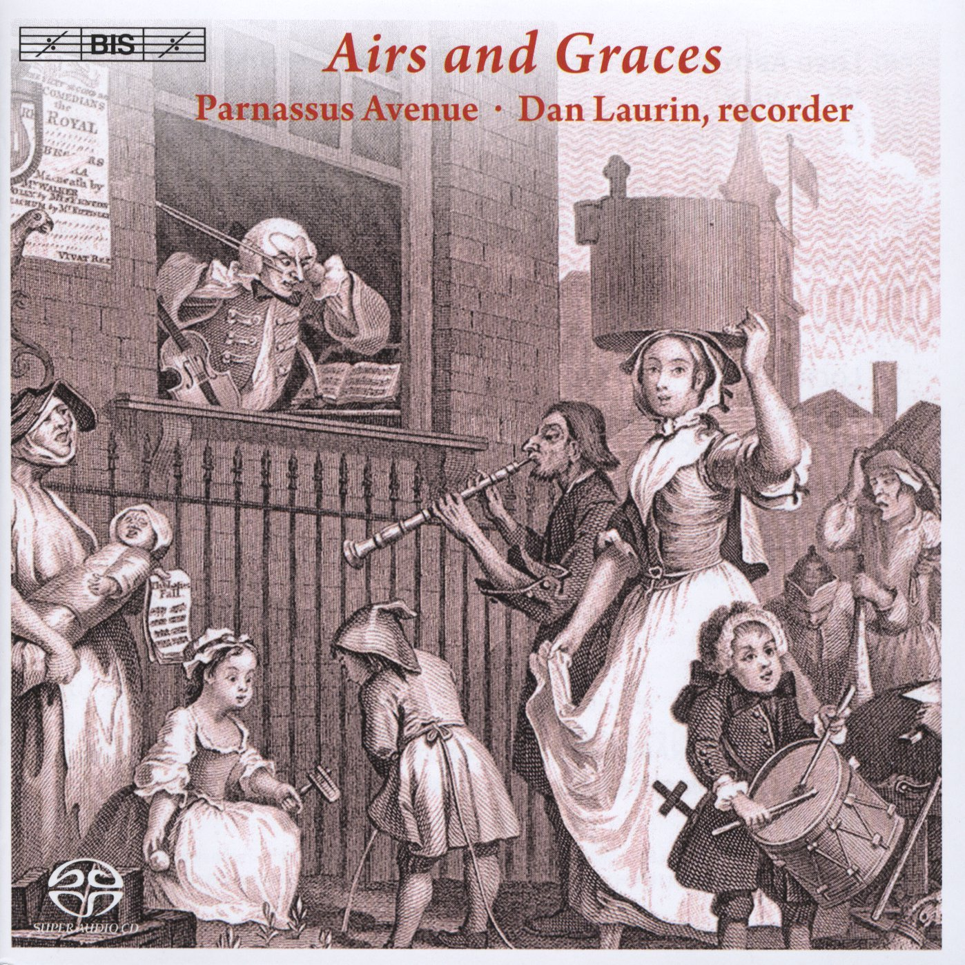 SACD : Parnassus Avenue - Airs & Graces: Scottish Tunes & London Sonatas (SACD)