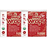 Julian Bakery Paleo Wraps (Traditional) USDA Organic (Gluten Free & Low Carb) (2 Pack) (14 Individual Wraps)