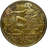 オーストリア フランツ・ヨーゼフ1世 雲上の女神 100コロナ金貨 1908年 レプリカ