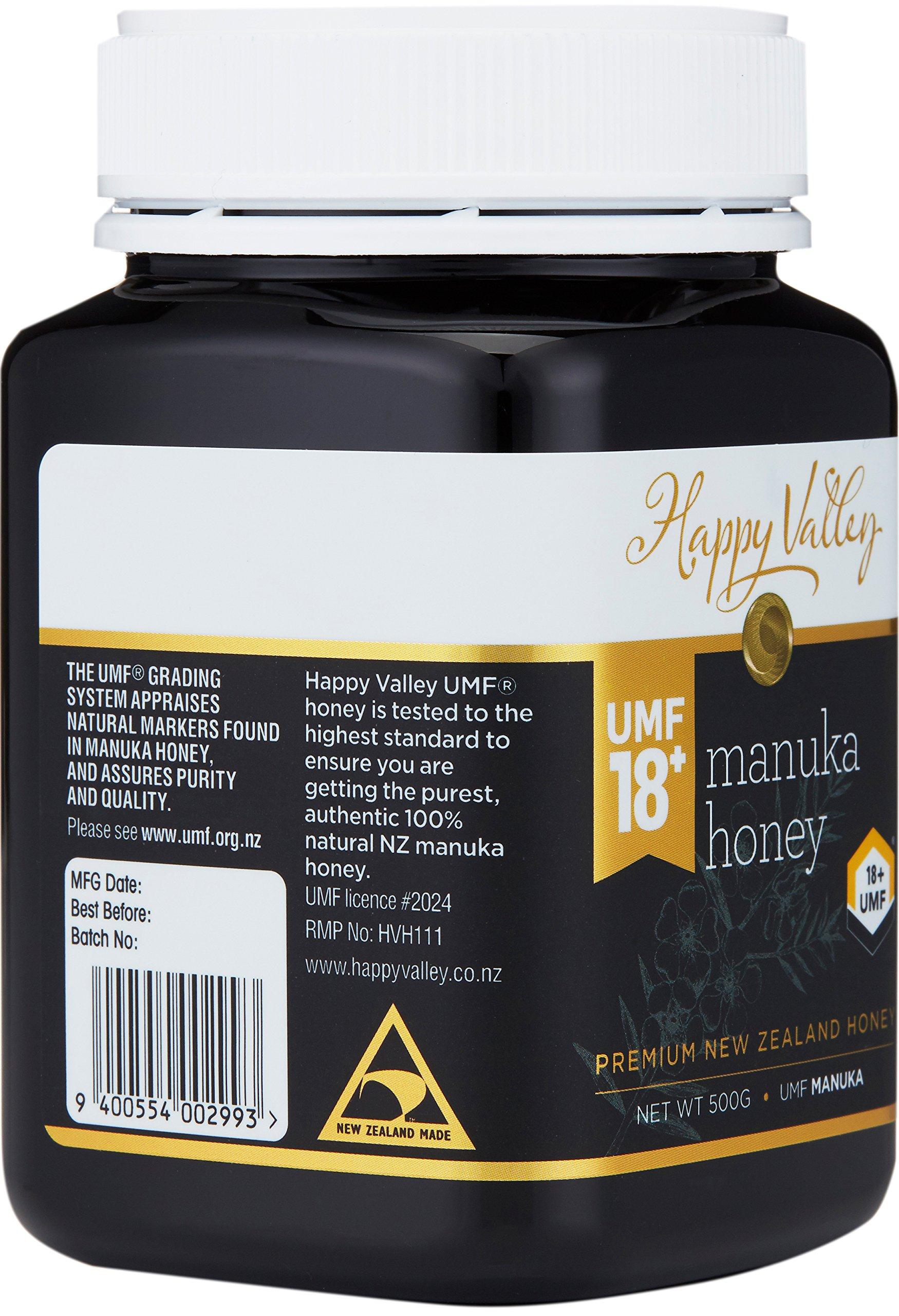 Happy Valley UMF 18+ Manuka Honey, 500g (17.6oz) by Happy Valley (Image #2)