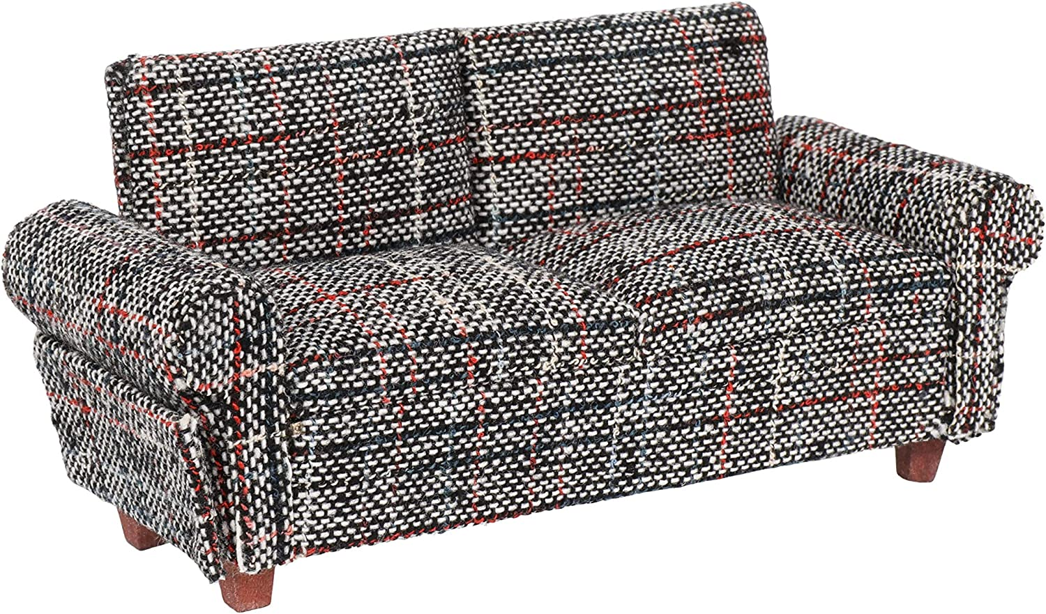 Inusitus Miniature Dollhouse Sofa - Dolls House Furniture Couch - 1/12 Scale (Retro)