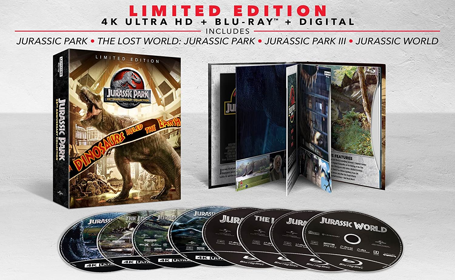 Jurassic Park 25th Anniversary Collection USA Blu-ray: Amazon.es ...