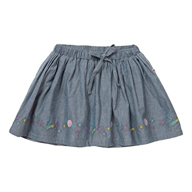 57a576f0d8d5 Piccalilly Organic Cotton Older Girls Space Embroidered Chambray Skirt:  Amazon.co.uk: Clothing