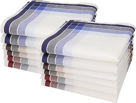 Betz 12 pañuelos para Hombres Leo 4 100% algodón tamaño 40x40 cm ...
