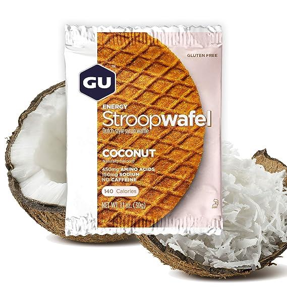 GU Energy Gofre de Coco - Paquete de 16 x 30 gr - Total: 480 ...