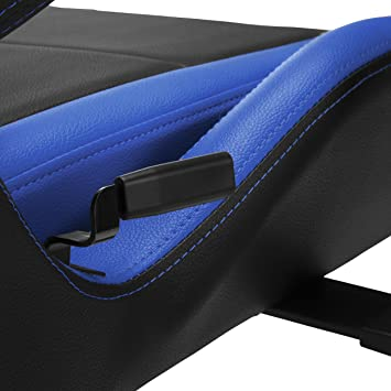 Amazon.com: RESPAWN-400 Racing Style Gaming Chair - Big and Tall Leather Chair, Office or Gaming Chair, Blue: Kitchen & Dining
