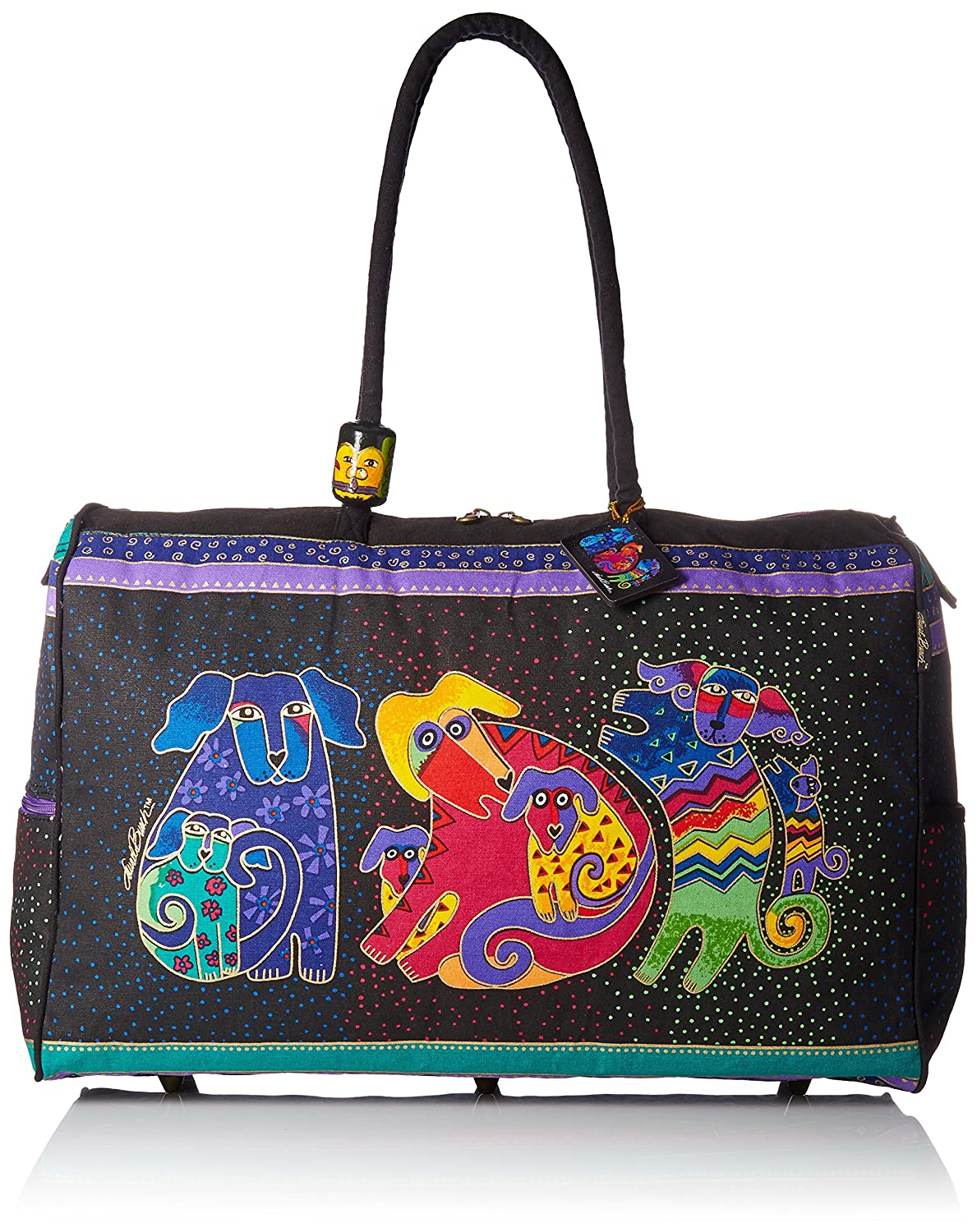 Laurel Burch Artistic Totes Travel Bag, Dogs and Doggies LB2072