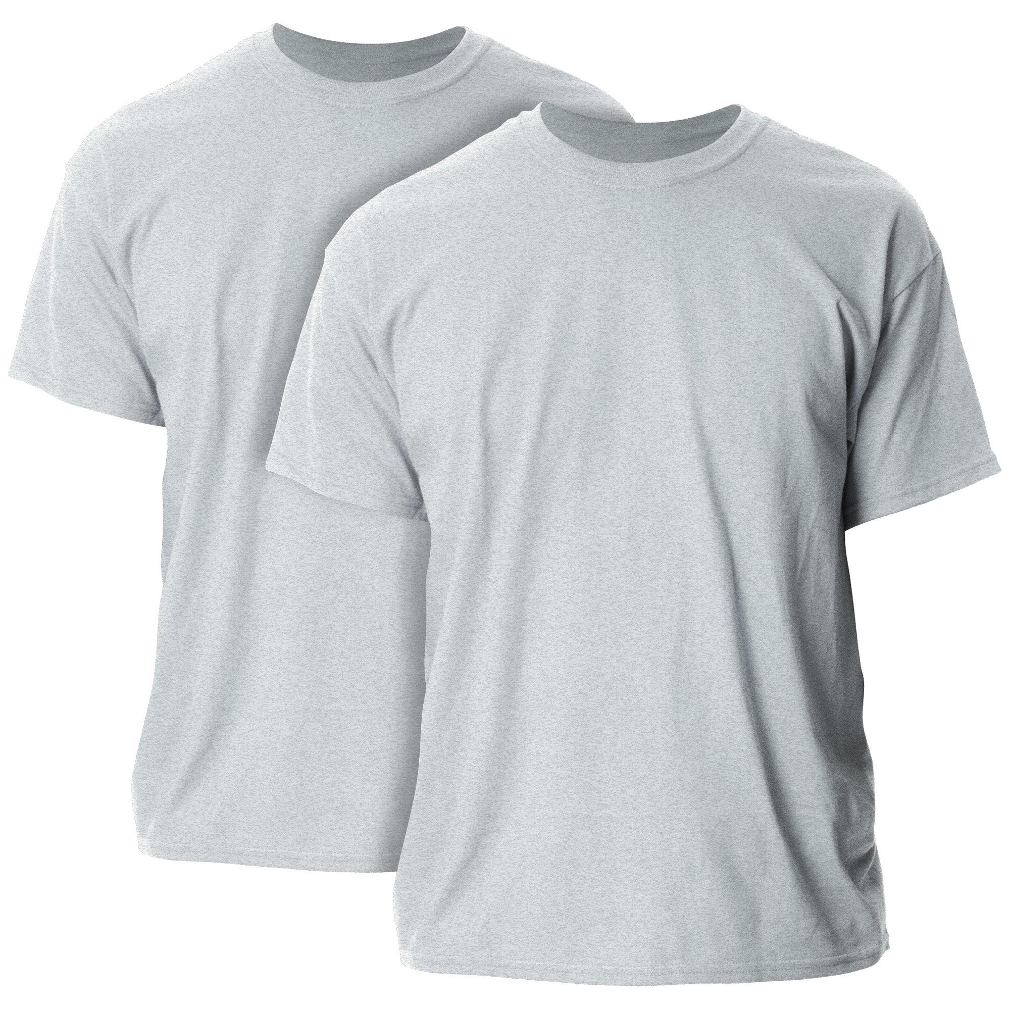 Gildan Men's Ultra Cotton Adult T-Shirt, 2-Pack, Sport Grey, 5X-Large by Gildan