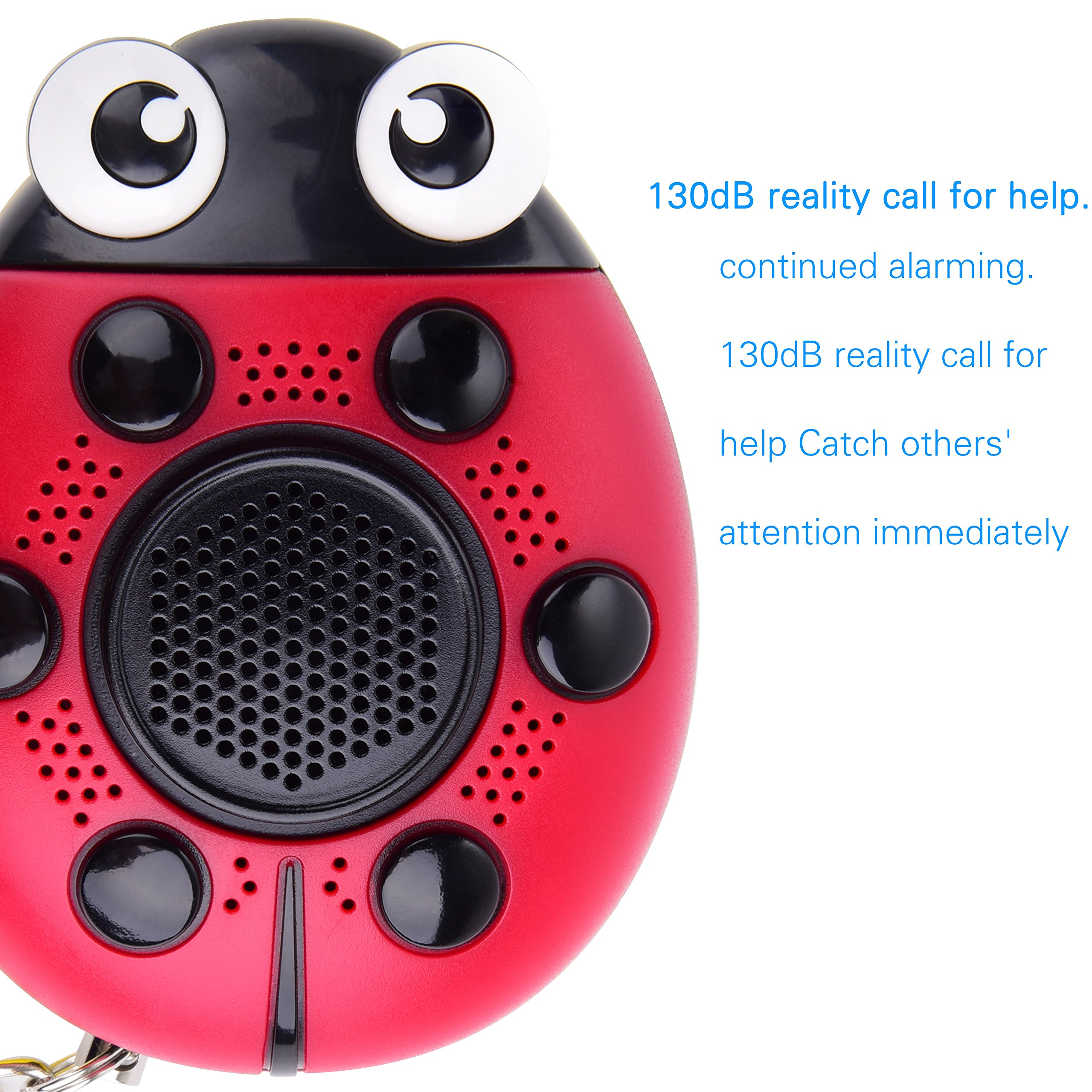 iDaye 130DB SOS with siren song voice Ladybug Emergency Personal alarm keychain,Protection Device with colorful flash work for kids/elderlies/owls and adults,Used as a speaker or electric torch. by iDaye (Image #4)