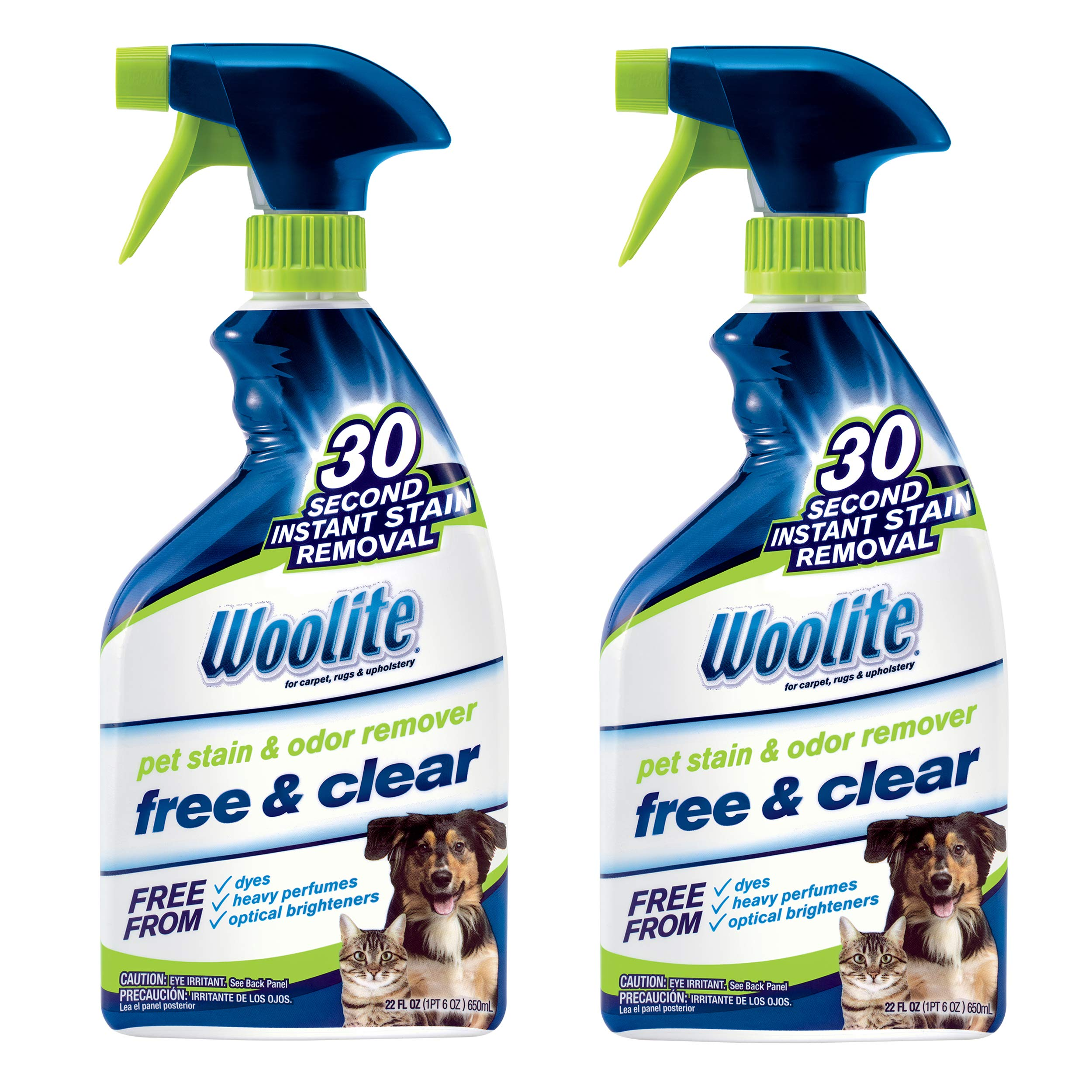 Woolite Free & Clear, Pet Stain & Odor Remover, 22oz (Pack of 2), 2719 by Bissell