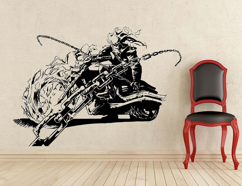 Ghost rider wall decal superhero vinyl sticker wall decor removable waterproof decal 264z amazon com