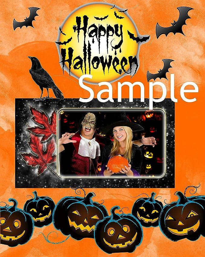 Halloween de Recortes Kit: 94 imágenes prediseñadas png, 8 papel fondos en 8 x 8 y 12 x 12