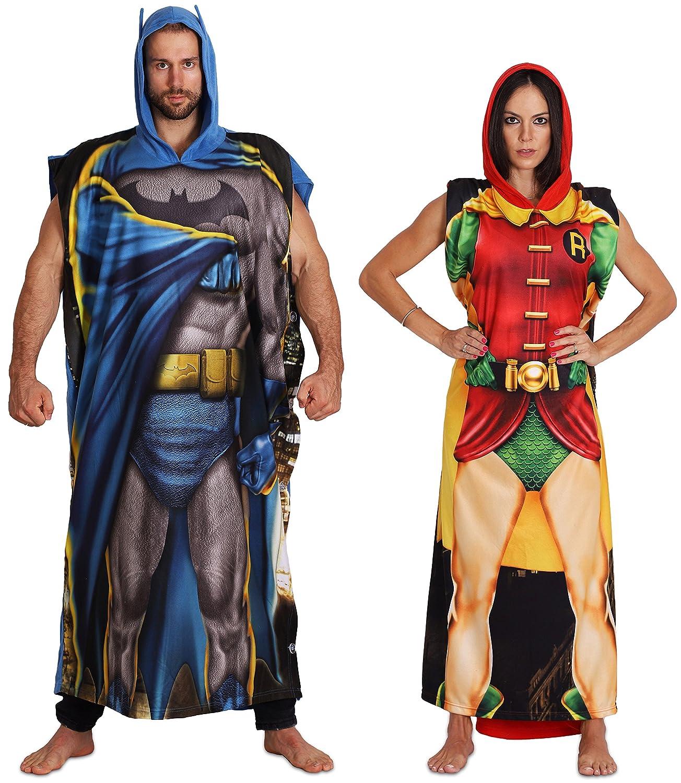 SuperHero DC Comics Dynamic Duo Batman and Robin Family Poncho/Costume Set
