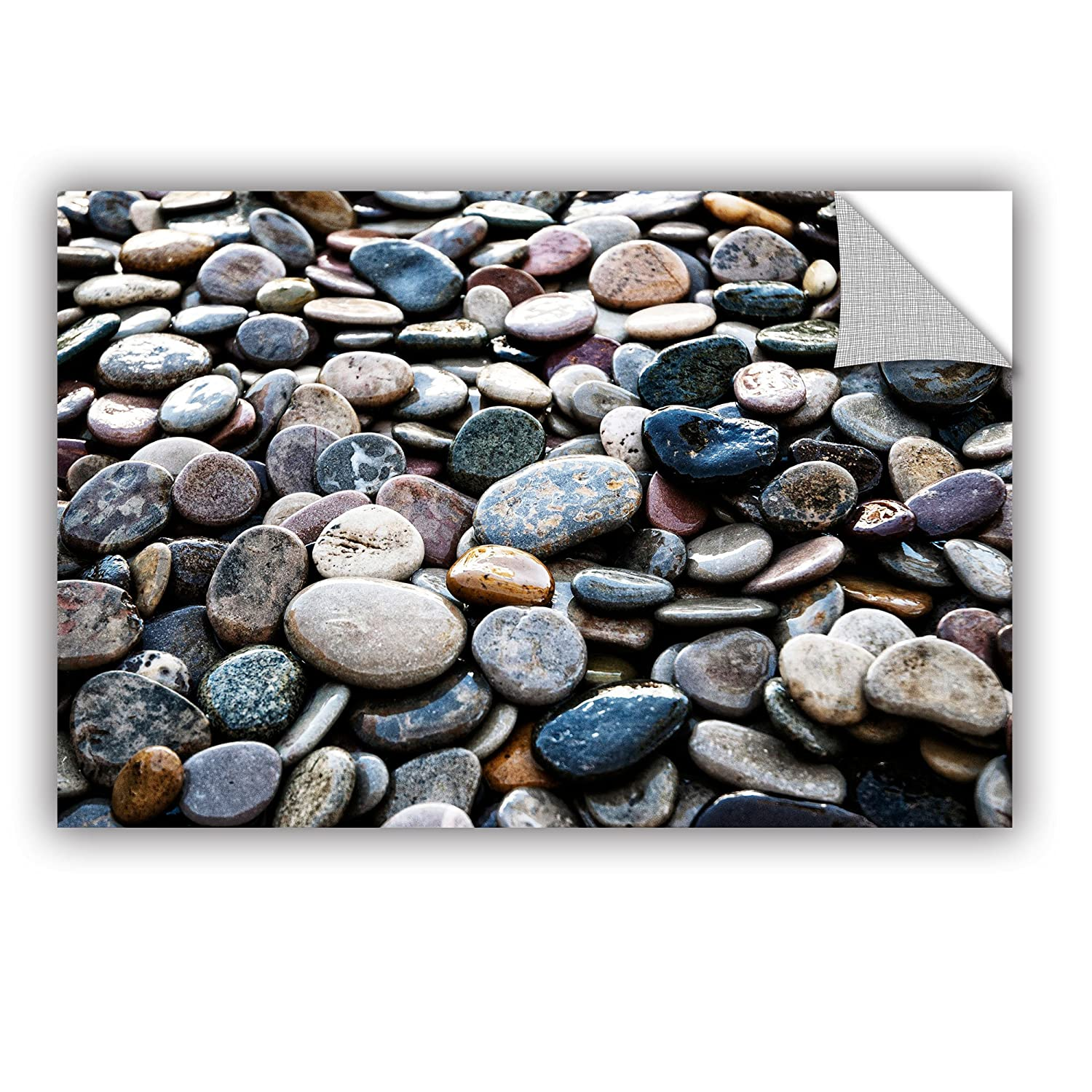 16 x 24 ArtWall Elana Rays River Stones Appealz Removable Graphic Wall Art Multicolor