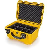 Nanuk Hard Case, Black (918-0001), Gevoerde scheidingswand, geel, Eén maat