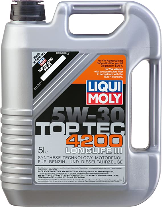 Liqui Moly (2011) Top Tec 4200 5W-30 Synthetic Motor Oil - 5 Liter Jug