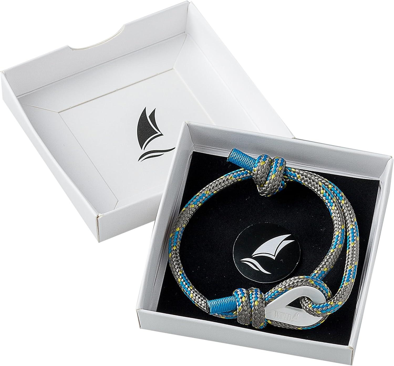 Wind Passion Bracelet Surfeur Tress/é Corde de la Plus Haute Qualit/é pour Homme