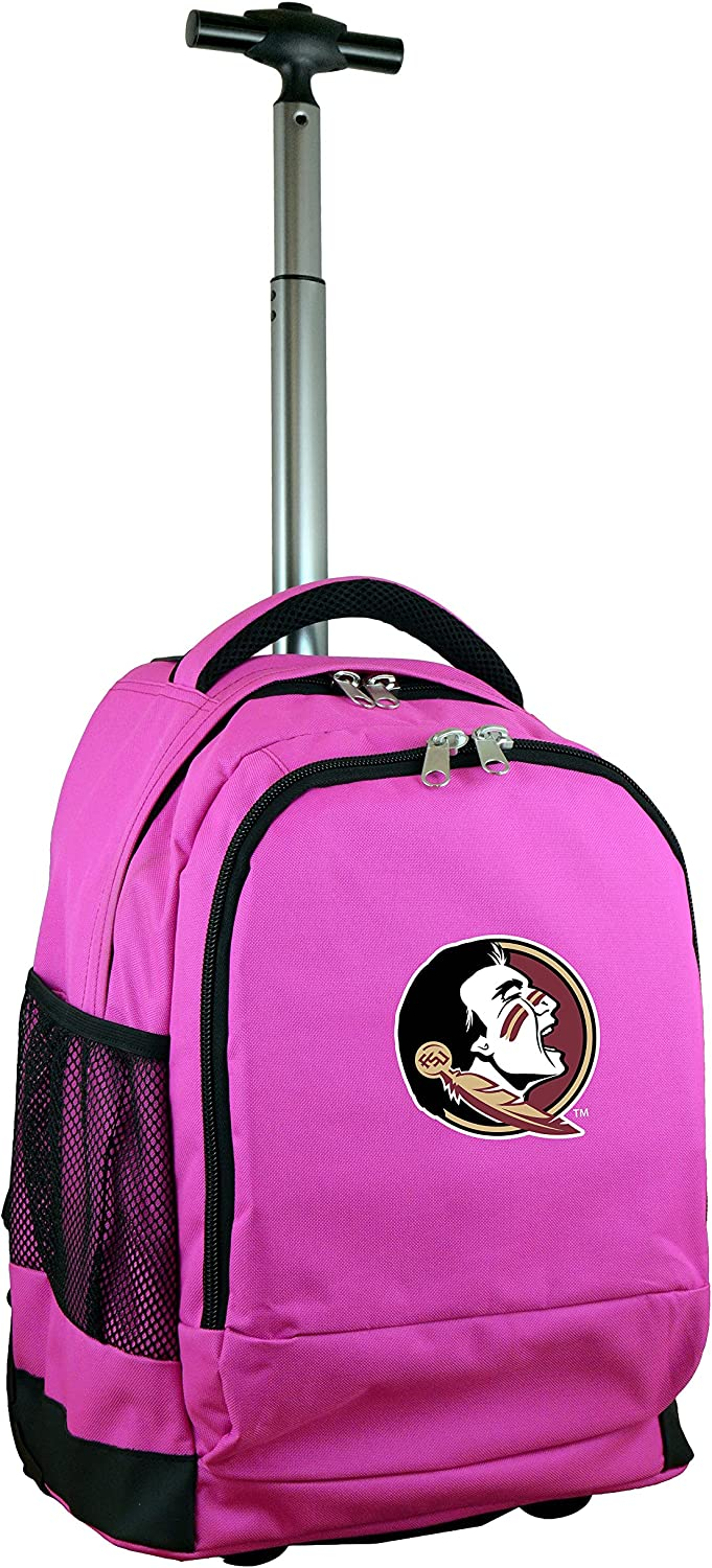 NCAA Wheeled Backpack, 19-inches, Pink