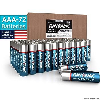 Amazon.com: Rayovac - Pilas AAA (pilas alcalinas triple A ...