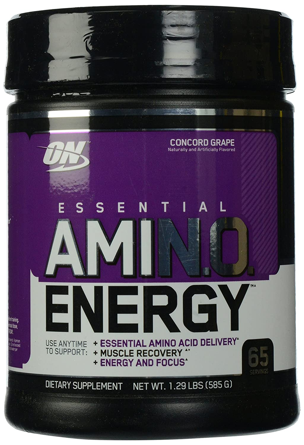 Optimum Nutrition Essential Amino Energy with Green Tea and Green Coffee Extract, Flavor: Concord Grape, 65 Servings