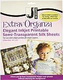 Jacquard Ink Jet Fabric 8.5'' x 11'' Silk Organza Sheets (5 Pack)