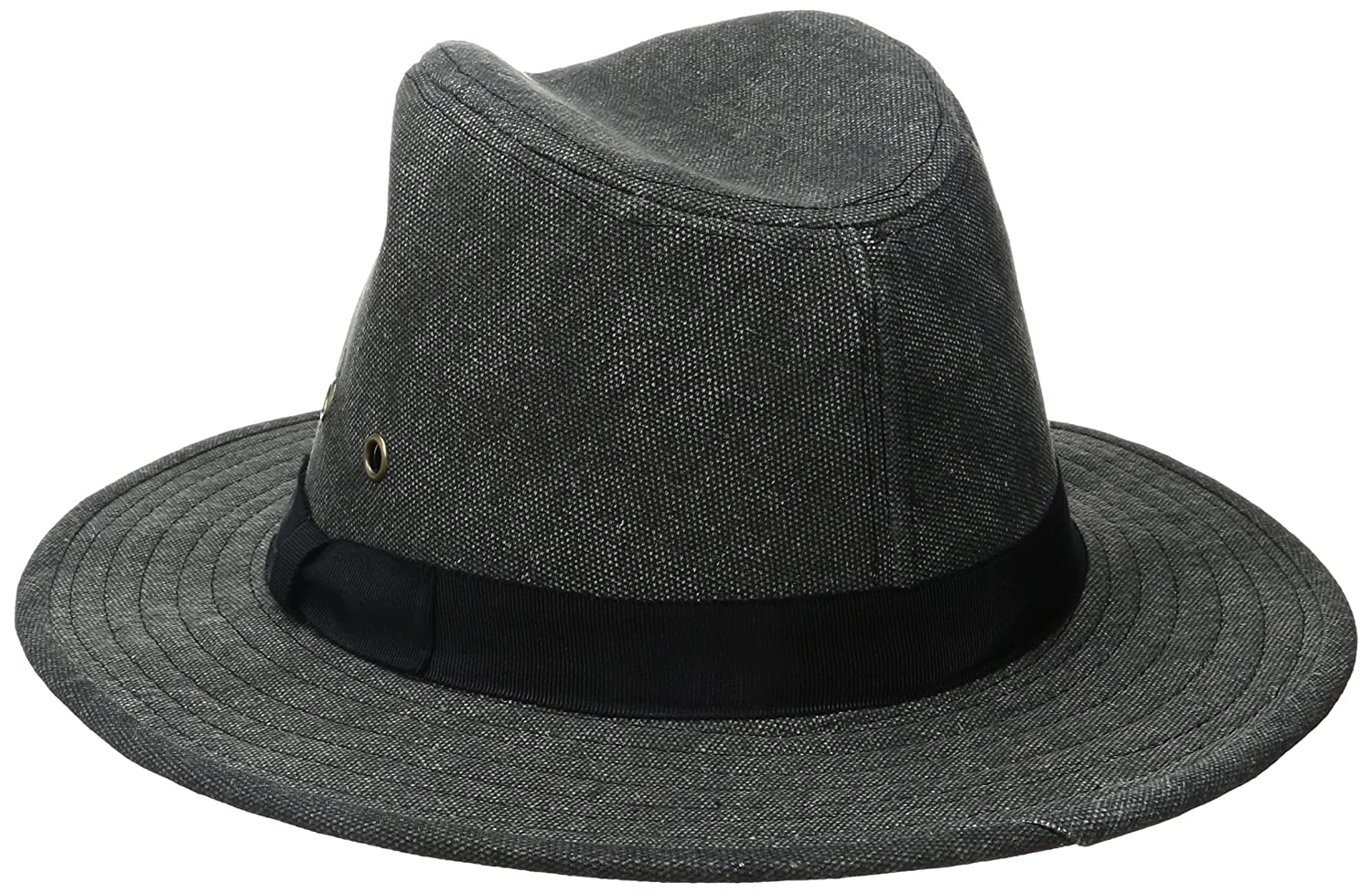 ale by alessandra Women s Skyler Adjustable Canvas Fedora Hat With UPF 50+ 1bbd1c375e61