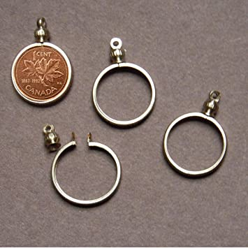 Amazon canadian penny 1 cent coin holder bezel for charm canadian penny 1 cent coin holder bezel for charm necklace pendant aloadofball Choice Image