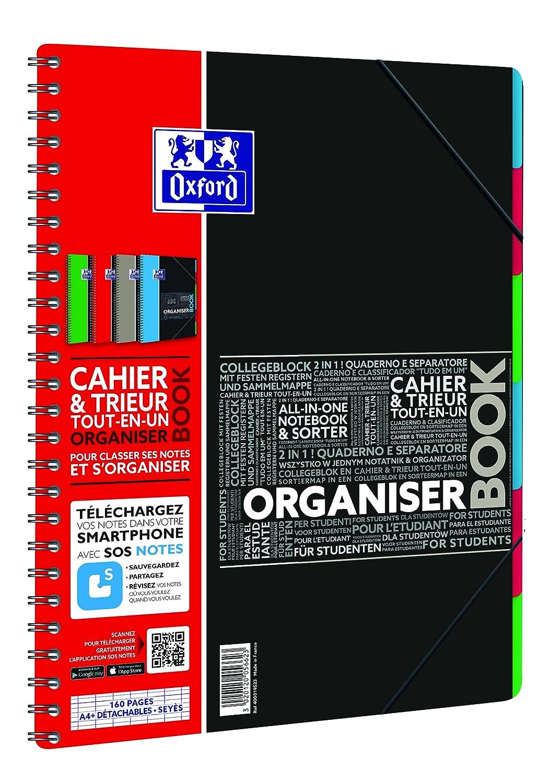 Oxford - Quaderno con separatori, 160 pagine formato A4, collegamento ad applicazione SOS Notes, colori assortiti Hamelin Brands 400019523