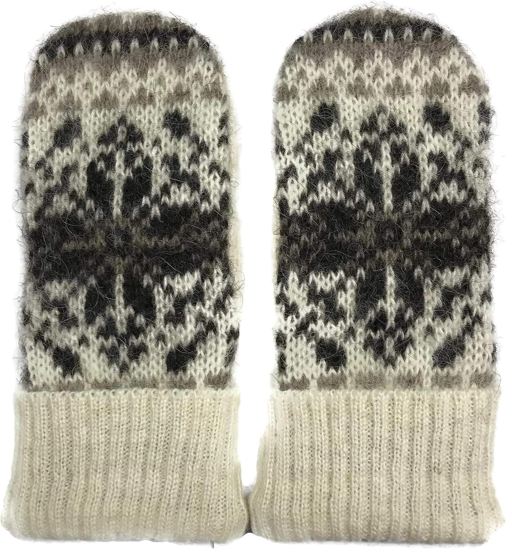 Women Knit Mittens 100% Icelandic Wool Fleece Lined by Freyja Canada