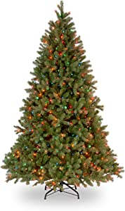 National Tree Company 'Feel Real lit Artificial Christmas Tree Includes Pre-strung White Lights, 7.5-FEET, Green