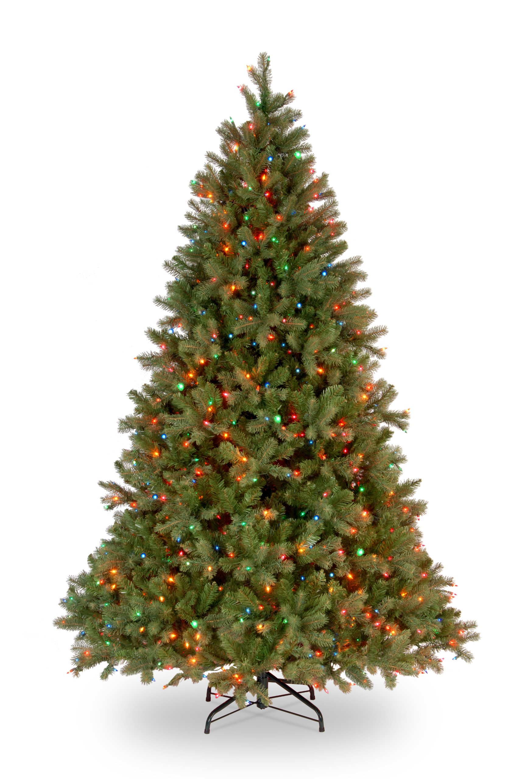 National Tree 7.5 Foot ''Feel Real'' Downswept Douglas Fir Tree with 750 Multicolored Lights, Hinged (PEDD1-325-75)