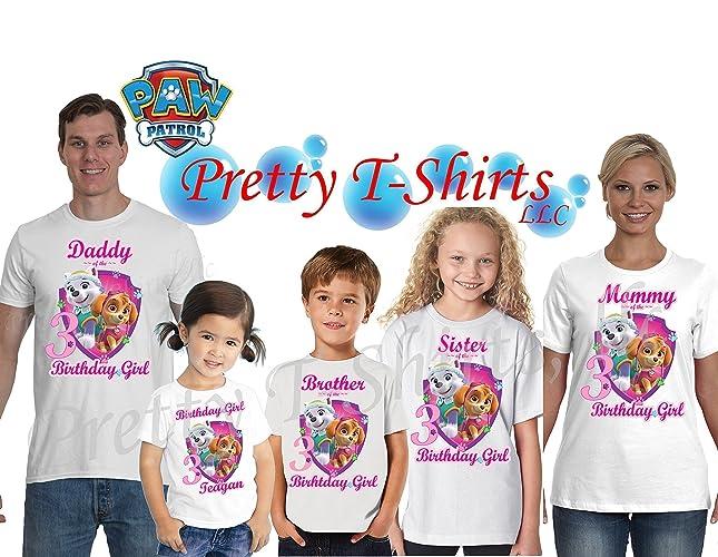 Paw Patrol Birthday FAMILY Shirt Skye Everest Girl