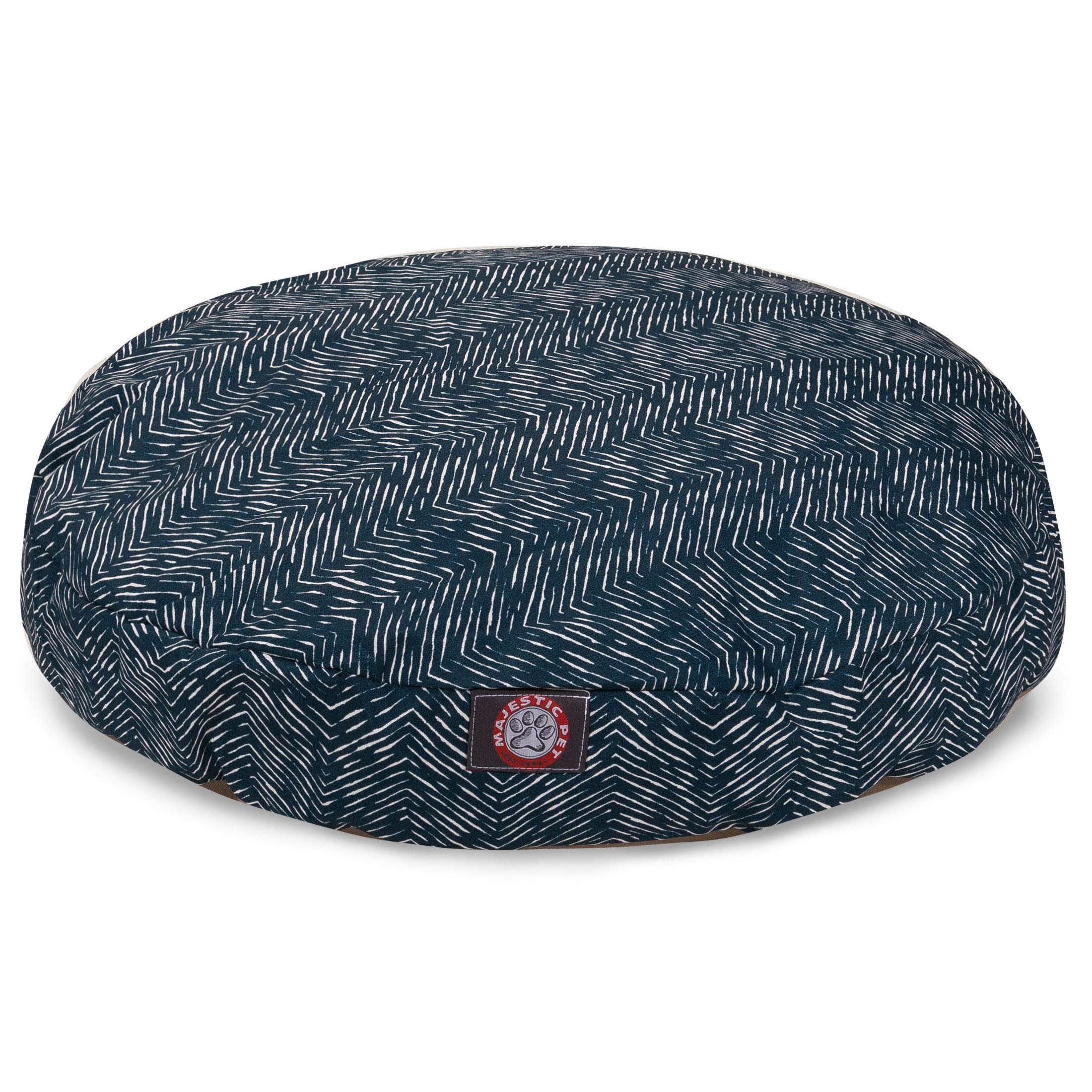 Majestic Pet Navy Blue Native Medium Round Indoor Outdoor Pet Dog Bed with Removable Washable Cover Products by Majestic Pet