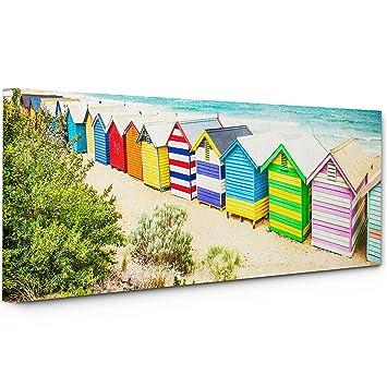 c558p lienzo de enmarcado - en la pared - Scenic landscape - 100% garantizada - diseño de casetas de playa paisaje - vida y decoración para el hogar con ...