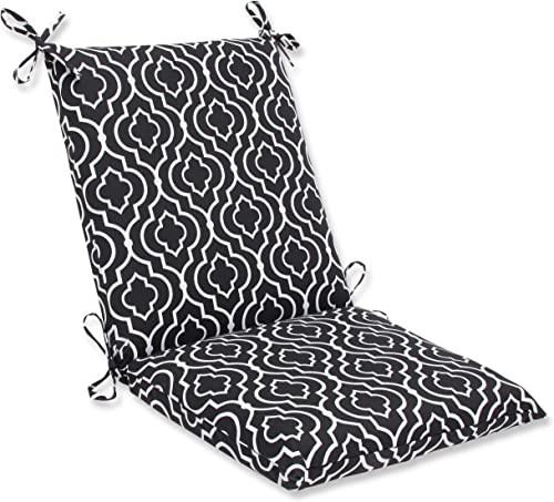 Pillow Perfect Outdoor Starlet Night Squared Corners Chair Cushion,Black