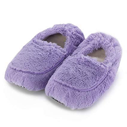 Warmies - Pantuflas para microondas (talla 3-7), color lila