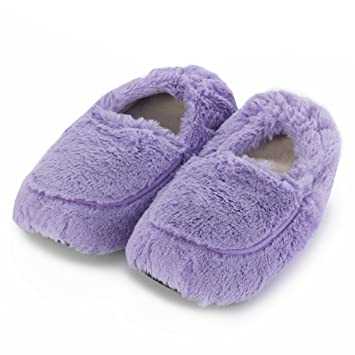 dbed72deeea Image Unavailable. Image not available for. Color  Intelex Fully  Microwavable Luxury Cosy Slippers ...