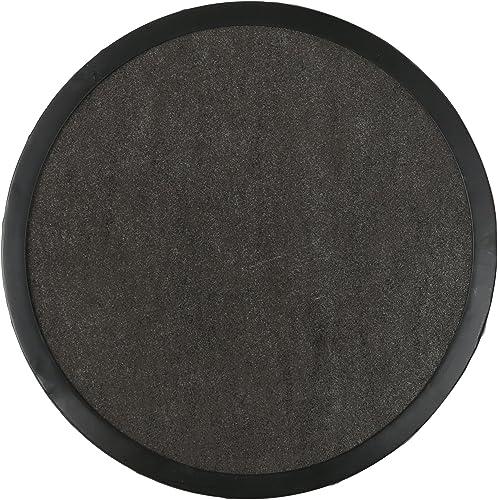 Christopher Knight Home Athena Indoor Modern 16 Inch Finish Side Table, Grey Ceramic Tile Black Metal