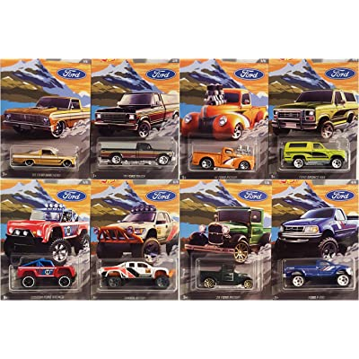 Hot Wheels 2020 Ford Truck Series Complete 8 Vehicle Set: Toys & Games