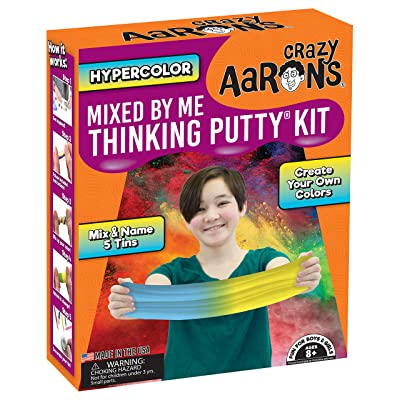 Crazy Aaron's Thinking Putty - Hypercolor Mixed by Me Thinking Putty Kit - Create Your Own Colors, Mix and Name 5 Tins - Never Dries Out: Toys & Games