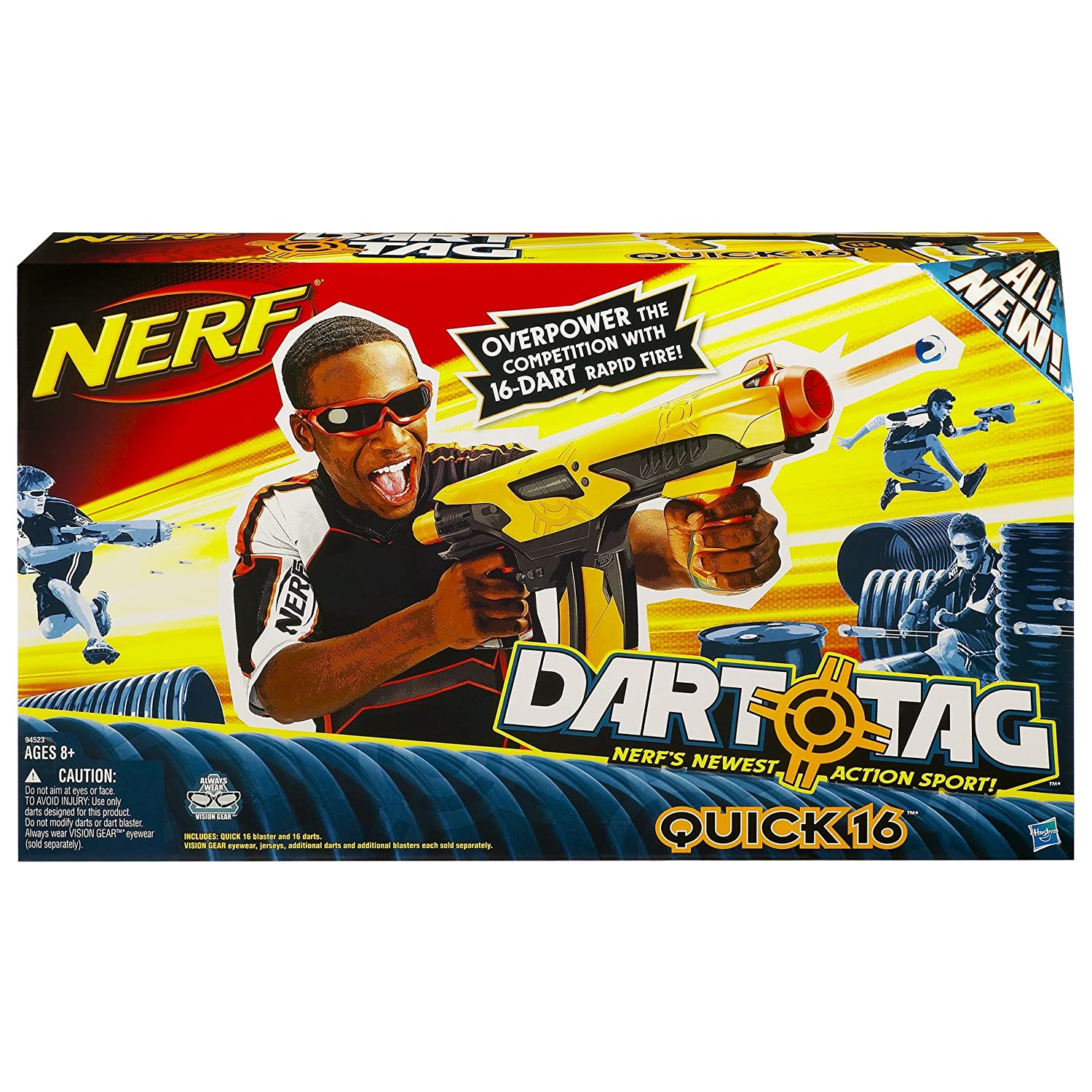 Image is loading LOT-OF-2-Nerf-DART-TAG-Fury-Fire-
