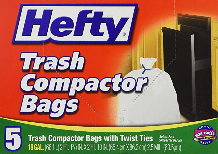 Hefty Trash Compactor Bags 18 GAL - 5 CT