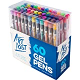 Gel Ink Pens 60-Unique-Colors - Medium-Point (0.8 mm) - Set of 60