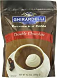 Ghirardelli Hot Chocolate Pouch, Double Chocolate, 10.5 Ounce